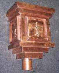 Tudor Copper Leaderhead - Cubic