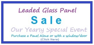 Our 2015 Glass Panel Sale - Click Here to go to our Clearance Page