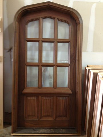 Mahogany Tudor Door - 12 Panel Jacobean 2/3 Light