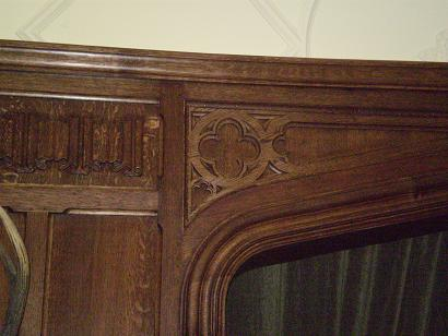 Tudor Library Quartersawn Oak Paneling Detail