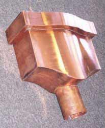 Tudor Copper Leaderhead - Shield