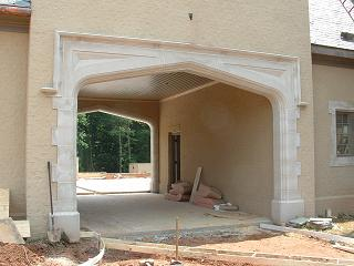 Large Porta-cochere archway