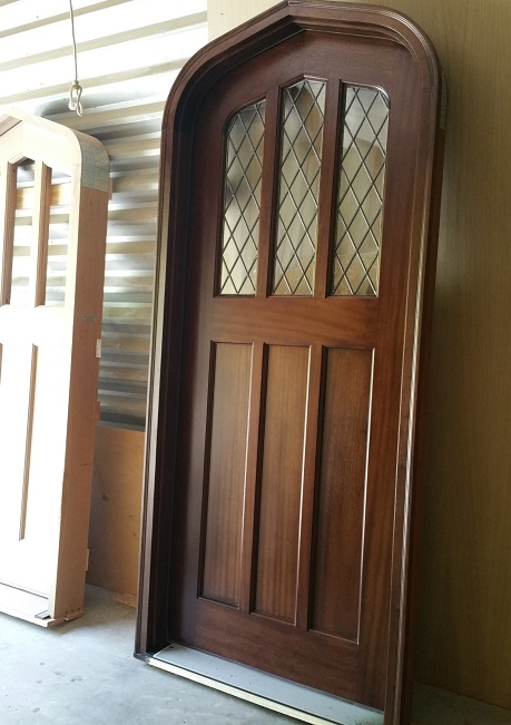 Mahogany Tudor Door - 6 Panel Half Light